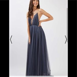 Tulle Lace up Maxi